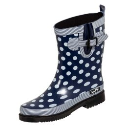 Bockstiegel Damen Regenstiefel Dorin-K blau/weiß