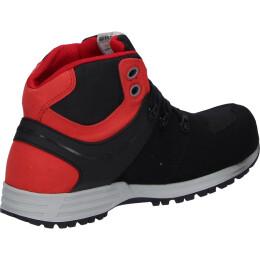 Schwab Rebel S3 Sicherheitsschuhe-Schuh hoch schwarz/rot