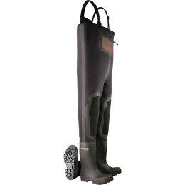 Dunlop Stiefel Purofort Wathose schwarz