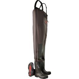 Dunlop Stiefel Purofort+ Wathose schwarz
