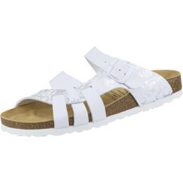 Lico Bioline Pantolette weiß/silber