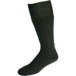 Nordpol Socken grün Vollplüsch 70%W/30%P wadenlang