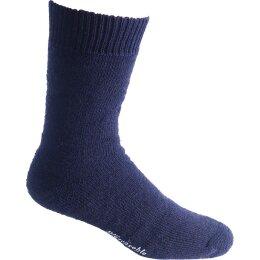 Nordpol Socken marine Vollplüsch 70%B/30%P