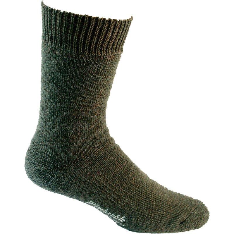 Nordpol Socken grün Vollplüsch 70%W/30%P