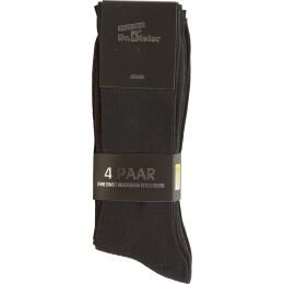 Socke schwarz ohne Gummi 4er Pack
