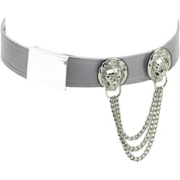 Löwenkette Metall silber