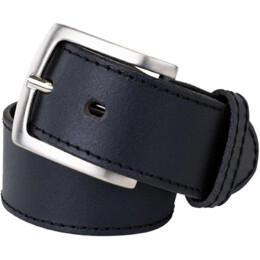 "Rindledergürtel ""Basic"" schwarz 40mm"