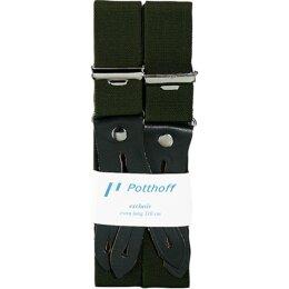 Hosenträger grün mit Lederpatten