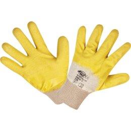 LSO Schutzhandschuhe gelb CAT 2 EN388 Gr. 10