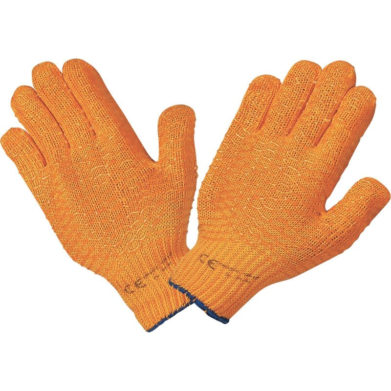 Stronghand Criss-Cross Schutzhandschuhe orange CAT 2 EN 388