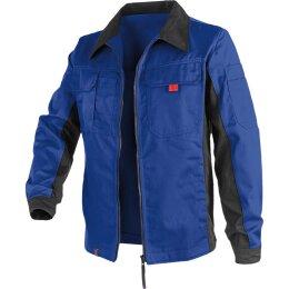 Kübler Jacke kornblau/schwarz 65%Polyester/35%Baumwolle