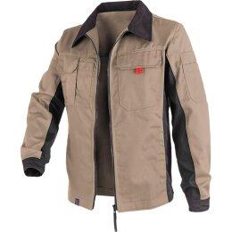 Kübler Jacke beige/schwarz 65%Polyester/35%Baumwolle