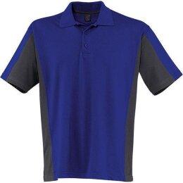 Kübler Shirt-Dress Polo-Shirt blau/anthrazit