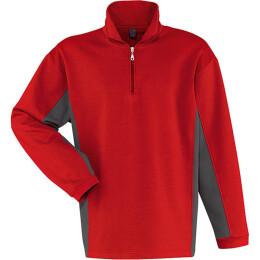 Kübler Shirt-Dress Sweatshirt rot/anthrazit