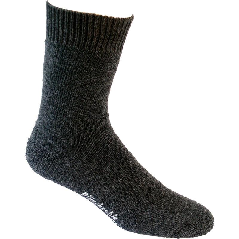 Nordpol Socken grau Vollplüsch 70%W/30%P