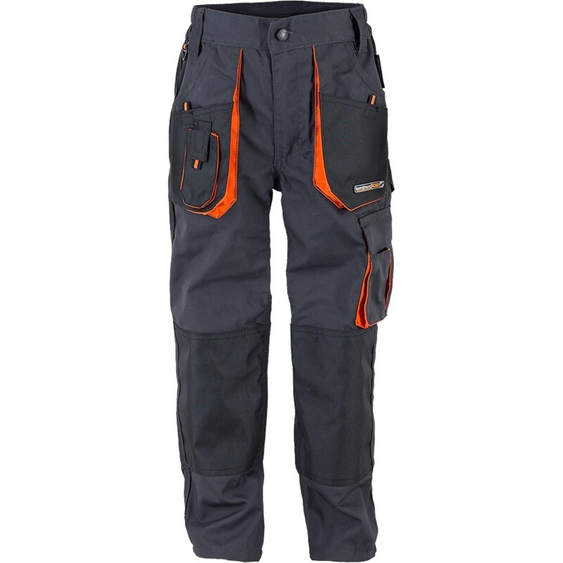 TTJ-Kinder-Bundhose grau/orange