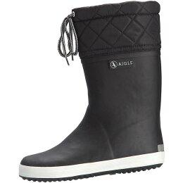 Aigle Giboulee Stiefel schwarz/weiß