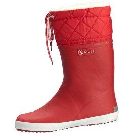 Aigle Giboulee Stiefel rot/weiß